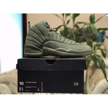 new product 0095b 48170 Olive Green Jordan 12,Air Jordan 12 Green,Factory Lacing Grade PSNY x Air  Jordan 12 Premium Olive Green Super Crossover Limited