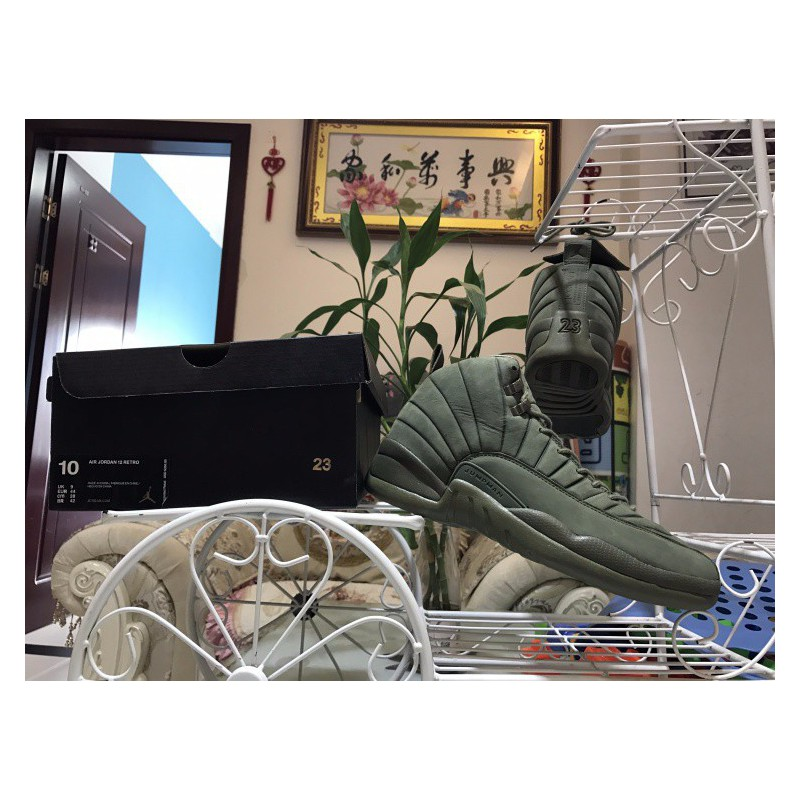 innovative design 20531 dd48f Olive Green Jordan 12,Air Jordan 12 Green,Factory Lacing ...