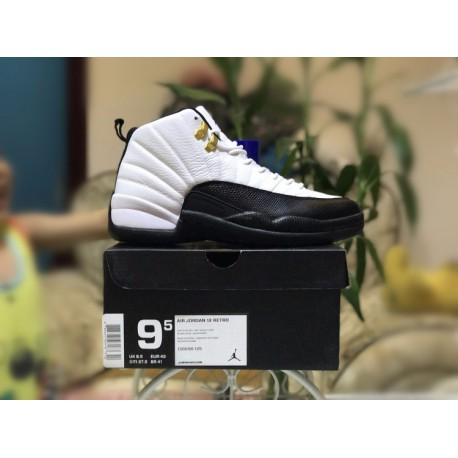 new arrival dba1d a6a4a Factory lacing class air jordan 12 retro taxi gold button colorway 130690-12