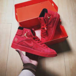 Nike AIR Jordan Sky HIGH OG Limited Edition Crossover Overall Red's Design Tongue And Sole Are Connected By Gore For Better Fas