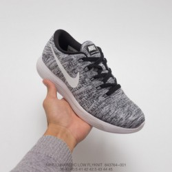 764-001 Nike LUNAREPIC Low FLYKNIT Lunar Epic Eight-Generation flyknit lightweight racing shoes lightweight and breathable - wh