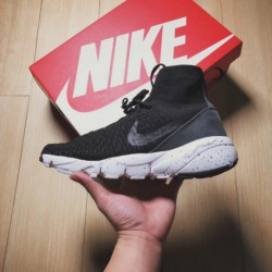 Nike AIR Footscape MAGISTA FLYKNIT Rüb Comfort Is Superior With Flyknit And Cow Split Leather Combination Upper Clever Gluing F