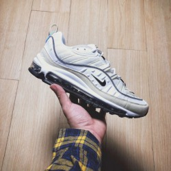 Nike Air MAX 98 White Fossil Limited Edition White Fossils As Scheduled Nike Air Max 98 White Fossil Lights Up In Black's Total
