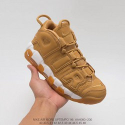 Aa4060 200 Nike Air More Uptempo Large AIR Pippen AIR Full Wheat Release Relaxation Air Casual Racing Shoe
