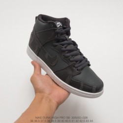 050-028 Nike SB Zoom Dunk High Nike UNISEX Athleisure Shoe Skate Shoes Coal Black/ whit