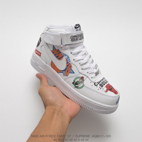 low priced f204b 4a836 Nike Af1 Supreme NBA,Supreme NBA Nike Af1,AQ8017-100 Nike Air Force Supreme  NBA AF1 Limited edition Crossover Black and White S