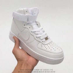 Nike Air Force 1 Af1 Air Force One Whole White High Upper Leisure Skate Shoes UNISEX FSR Also Has On-Demand bespok