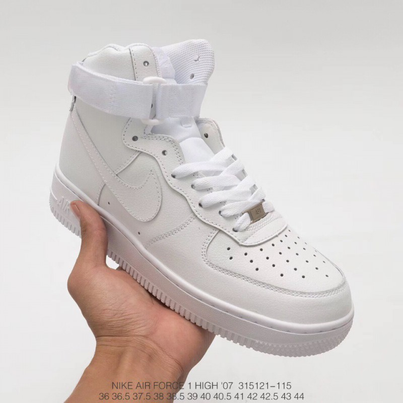 best authentic 9ddfe 1d2e7 Nike Air Force 1 Af1 Air Force One Whole White High Upper Leisure Skate  Shoes UNISEX ...