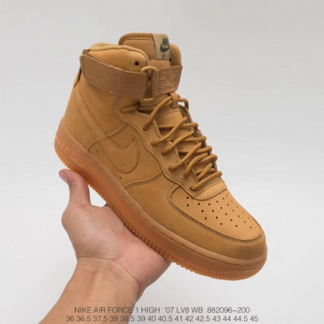 reputable site 191d1 6f6b1 Nike Air Force 1 High 07 Lv8 Flax Wheat,Nike Air Force 1 High Lv8 Flax,096  200 Nike Suede Rhubarb Boots Air Force High Wheat Rh