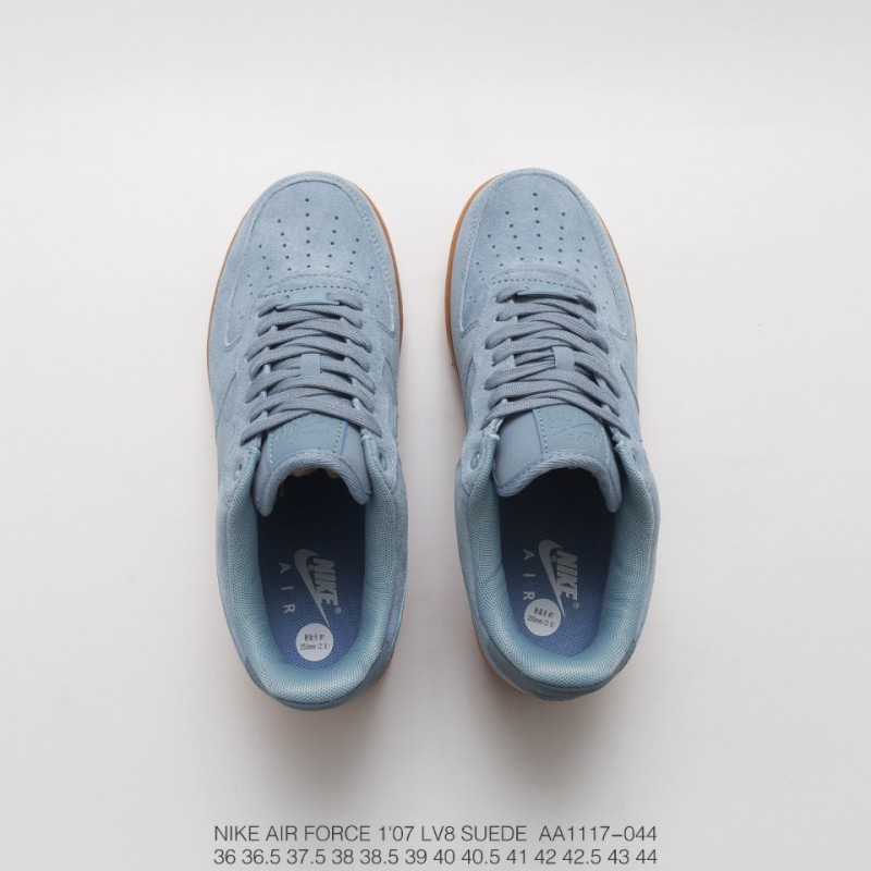 separation shoes c0b30 8b475 ... Aa1117-044 nike air force 1 07 lv8 suede air force one light blue brown
