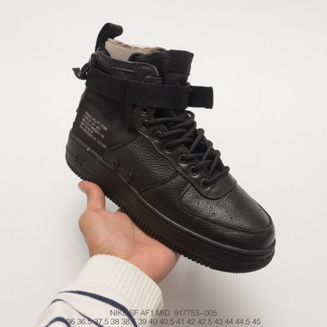 low cost 7becd ec5d1 Nike Air Force 1 Sport Lux,Nike Air Force 1 Sport Luxury,753-005 Nike Upper  Air Nike SF AF1 Mid Men's Black Samurai Black Plant