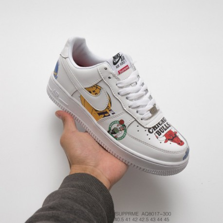 buy online c247b 9b9ba Supreme X Nike Air Force 1 NBA,Nike Air Force 1 MID Supreme NBA  White,AQ8017-300 Nike Supreme x NBA x Nike Air Force AF1 Tripar