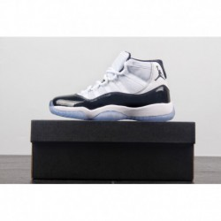 bf598c8ab7dc Air Jordan 11 Concord GS Women s Aj11 Kangkou New Retro White Black 45  Embroider