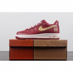 Nike-Air-Force-1-Red-Leather-Red-Leather-Nike-Air-Force-1-Upper-Castingleather-exclusive-use-of-the-same-company-Leather-Upper