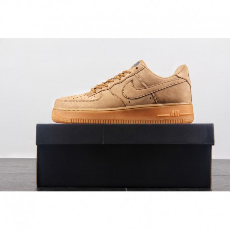 Upper suede edition nike air force 1 low af1 wheat air force one skate shoes aa4061-200 factory lacing upper waterproof materia