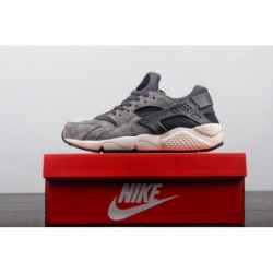 ️nike Air Huarache Run Premium, The First Generation Of Wallace Vintage Jogging Shoes Off-white, Violet Black 852628-00