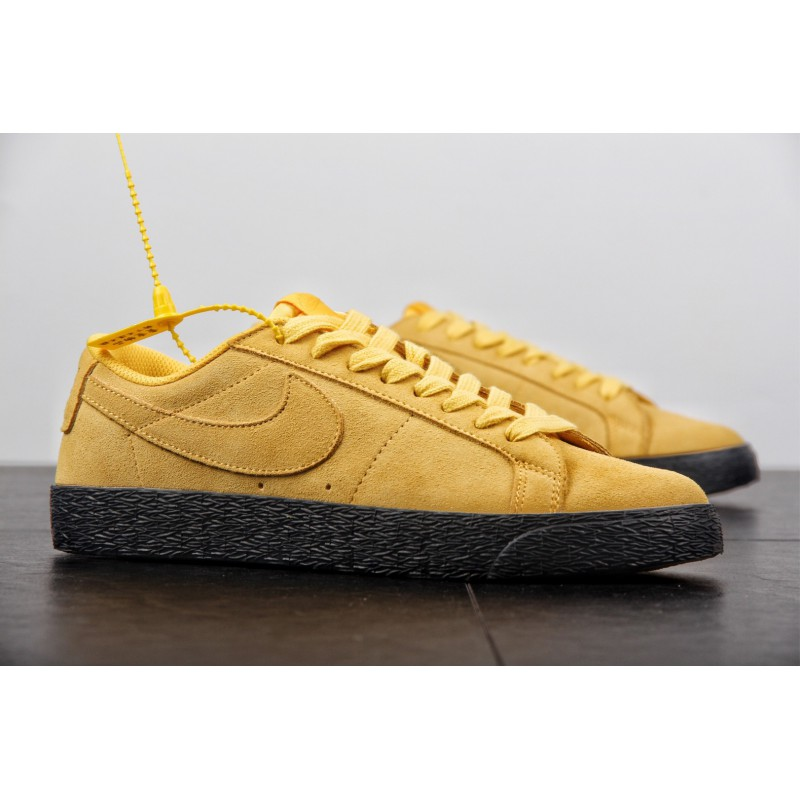 official photos 0365e 7b904 ... Nike SB Zoom Blazer Low Casual Skate Shoes Wheat Yellow 864347-00 ...