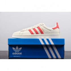 Premium napa leather upper remaster classic adidas originals campus 80s campus classic all-Match low skate shoes off-white Red