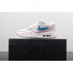 The symbol of modern paris pompidou center nike air max 1 pompidou all-match Vintage Air Jogging Shoes Snow Wolf Pale Grey Roya