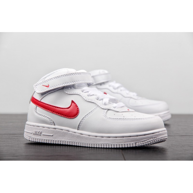 Nike Air Force 1 Low Fake VS Real,Nike Air Force 1 MID Kids,Parent child shoes preferred Nike Force 1 MID Air Force No. 1 White