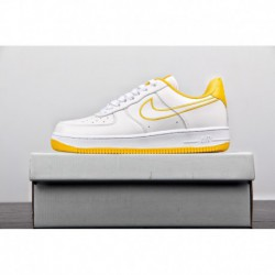 New-White-Nike-Air-Force-1-New-Nike-Air-Force-1-Womens-New-ColorWay-Release-Nike-Air-Force-AF1-Air-Force-White-Yellow-Embroider