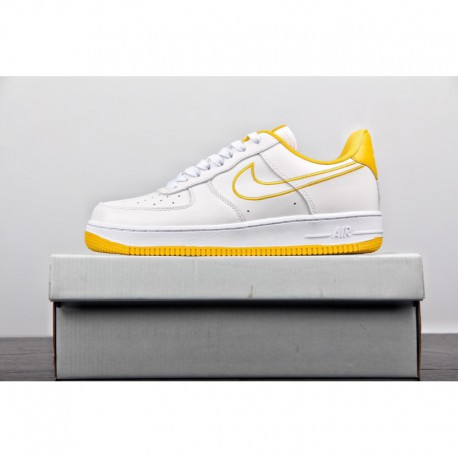 timeless design 7a9ab 4ef4f New White Nike Air Force 1,New Nike Air Force 1 Womens,New ColorWay Release  Nike Air Force AF1 Air Force White Yellow Embroider