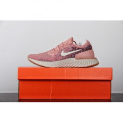 Womens FSR ️ Nike Epic React Flyknit Pro Cotton Granules Knitting Ultra Lightweight Jogging Shoes Nude Pink Spotted Black Aj728