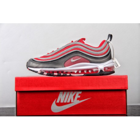 buy online b9d1d 94515 Red Nike Air Max 97 Ultra Gym Red,Nike Max 97 Red,FSR Nike Air Max 97 Red  Grey All-match Vintage Air Jogging Shoes Wolf Grey Wh