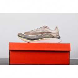 Nike lab zoom fly sp flying marathon high stitching shoes transparent grey pale purple lavender aa3172-20