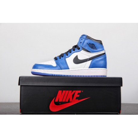 new concept c5a76 2c3a9 Aj1 Blue And White,Original Outsole Air Jordan 1 AJ1 Game Blue Lightning GS  Womens Replenishment Happy and Good s Not much