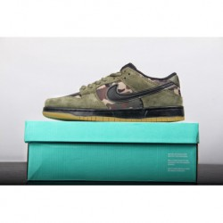 Nike Dunk Low Pro SB Dunk Low Street Skate Shoes Olive Green Color 854866-2093