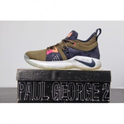 Nike Pg2 Paul George II Generation Signature Blue Sneaker Olive Green Black Colorful Navy Ao2984-30