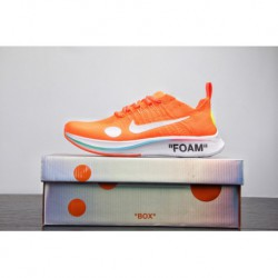 World cup limited edition off-white X Nike Zoom Fly Mercurial Flyknit Lightweight Flyknit Jogging Shoes Ow Orange Gradient Colo