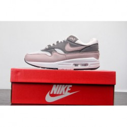 Premium Original Nike Air Max 1 Vintage Air All-Match jogging shoes white smoke purple powder 319986-03