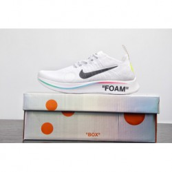 World cup limited edition off-white X Nike Zoom Fly Mercurial Flyknit Lightweight Flyknit Cushioning Jogging Shoes Ow White Bla