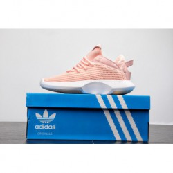 Exclusive Women's Adidas Crazy 1 Adidas V Primeknit Improved Crazy Generation Knitting Vintage All-Match jogging shoes pink ora
