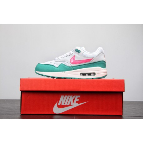 bcccbe56e4 Super Hot Cake Beauty Colorway Nike Air Max Anniversary 1 Vintage Air  Jogging Shoes Watermelon Green
