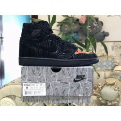 Factory Lacing Class Air Jordan 1 Retro OG High Los Primeros Global Limited Edition Do Not Black Graffiti Colorway Ah7739-00