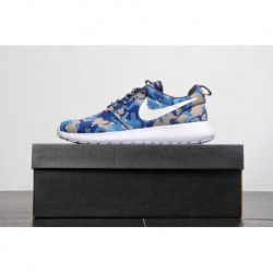 Official Website Id Bespoke Colorway Nike Roshe Run Olympic London Mesh Lightweight Breathable Trainers Shoes Blue Camouflag