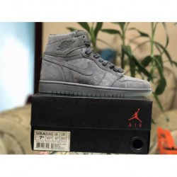 Factory Lacing Level KAWS X Air Jordan 1 Retro OG High Don't Luxury Grey Colorway 907958-00