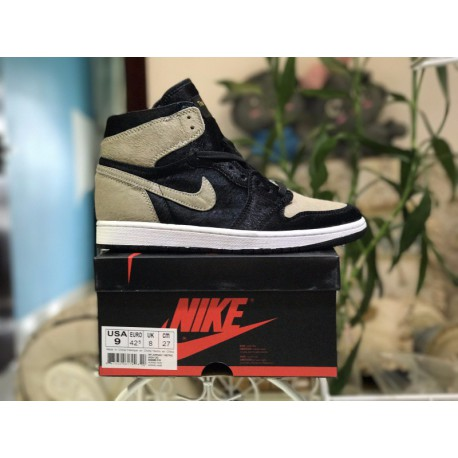 f828b04ce062 Factory Lacing Class Air Jordan 1 Retro OG High Shadow Bespoke Black And  Yellow Horse Hair