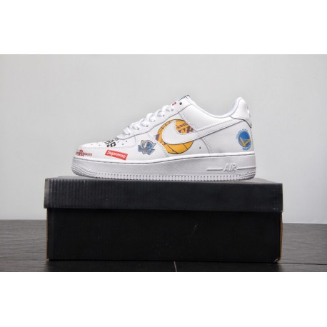 detailed look a4c6c 259c6 Nike Air Force 1 Low NBA White,Nike Air Force 1 Low 07 NBA,Replenishment  NBA X Supreme X Nike AF1 Tripartite Crossover Low