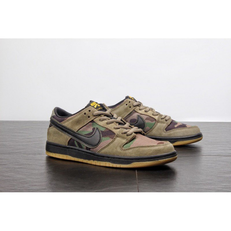 Nike Dunk Low Pro SB Dunk Low Street Skate Shoes Olive Green Color 854866-2093  ... 2f771f13d