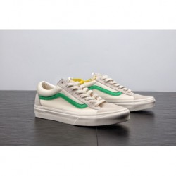 Factory Lacing Retro Japan Limited Edition Vans Vault OG Style 36 Classic Vintage Low Skate Shoes Campus Off-White gree