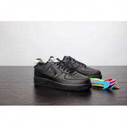 Nike-Air-Force-1-30th-Anniversary-Black-Friday-Edition-Cheap-All-Black-Nike-Air-Force-1-FSR-play-various-daily-change-swoosh-pl