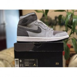 Factory Lacing Class Air Jordan 1 Retro OG High Premium Shadow Camo Super 3m Underply Visible Outside Gray Camouflage Colorway