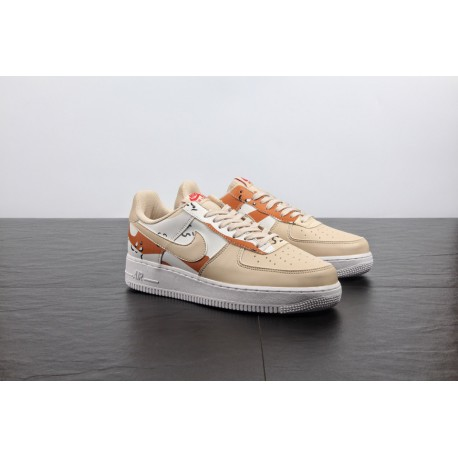 Leather Upper With Sole Air Af1 Desert Yellow Camouflage Nike AIR Force 1 Af1 Camouflage 3m Air Force One Casual Skate Shoe