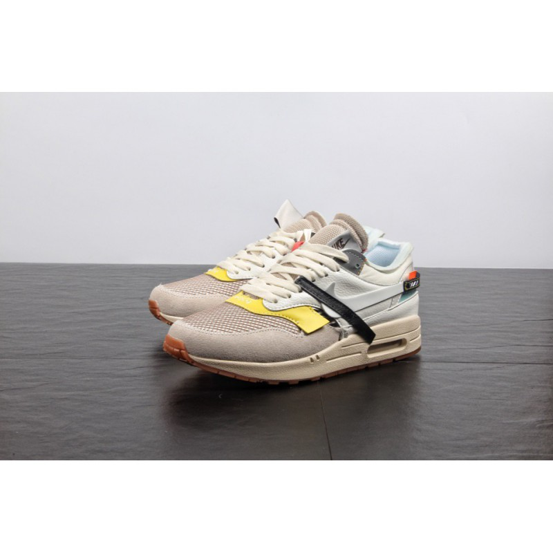 Off White™ x Nike Air Max 1 Custom Black By BespokeIND For Sale