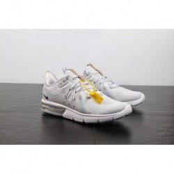 FSR Official Nike Air Max Sequent 3 Generations Of Palm Cushioning Super Soft Air Jogging Shoes Black Smok