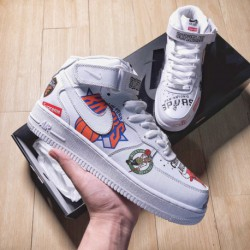 Web Celebrity Hot Cake Supreme X NBA X Af1 Tripartite Crossover Supreme X NBA X Nike Air Force 1 Mid Is The Most Popular Web Ce